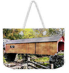 Green River Covered Bridge - Vermont Weekender Tote Bag by Joseph Hendrix
