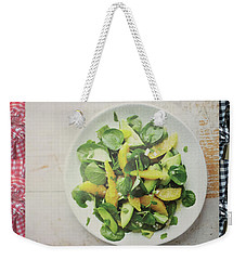 Weekender Tote Bag featuring the photograph Green Salad Kitchen Chef Cuisine Christmas Holidays Birthday Festivals Mom Dad Sister Friends by Navin Joshi