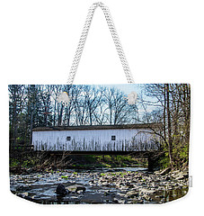 Weekender Tote Bag featuring the photograph Green Sergeants Bridge by Bill Cannon