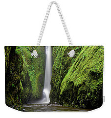 Weekender Tote Bag featuring the photograph Green Slot Canyon by Jonathan Davison
