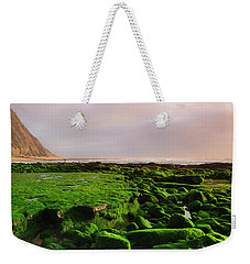 Green Soul Of The Cliff Weekender Tote Bag by Edgar Laureano
