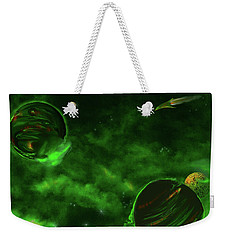 Green Space Weekender Tote Bag by Methune Hively