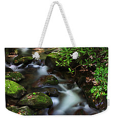 Green Stream Weekender Tote Bag