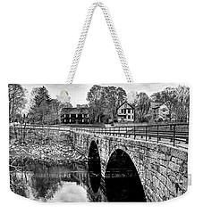 Green Street Bridge In Black And White Weekender Tote Bag