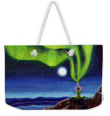 Green Tara Creating The Aurora Borealis Weekender Tote Bag