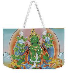 Green Tara With Retinue Weekender Tote Bag