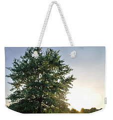Green Tree Bright Sunshine Background Weekender Tote Bag