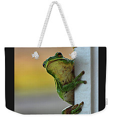 Green Tree Frog  It's Not Easy Being Green Weekender Tote Bag