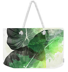 Green Tropical Weekender Tote Bag