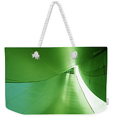 Weekender Tote Bag featuring the photograph Green Tunnel. Los Angeles Series. by Ausra Huntington nee Paulauskaite