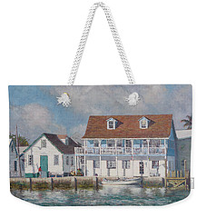 Green Turtle Cay Past And Present Weekender Tote Bag