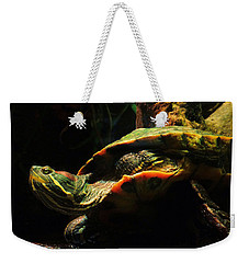Weekender Tote Bag featuring the photograph Slider Turtle by Rosalie Scanlon