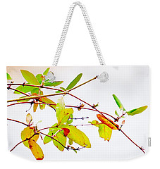 Green Twigs And Leaves Weekender Tote Bag