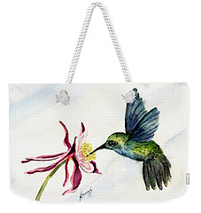 Green Violet-ear Hummingbird Weekender Tote Bag