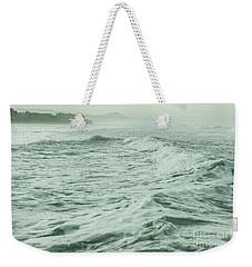 Green Waves Weekender Tote Bag by Iris Greenwell