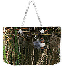 Green Winged Teal  Weekender Tote Bag