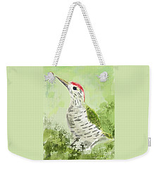 Green Woodpecker Weekender Tote Bag