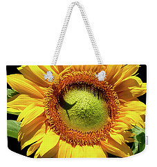 Greenburst Sunflower Weekender Tote Bag by Rona Black