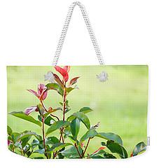 Greenery And Red Weekender Tote Bag