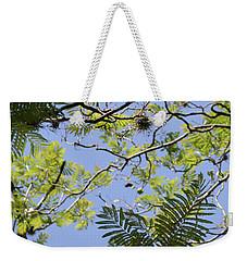 Greenery Left Panel Weekender Tote Bag by Renie Rutten