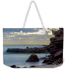Weekender Tote Bag featuring the photograph Greenglades Beach Morning by Angela DeFrias