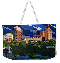 Greensboro Skyline In The Sunshine Weekender Tote Bag