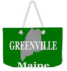 Weekender Tote Bag featuring the photograph Greenville Maine State City And Town Pride  by Keith Webber Jr
