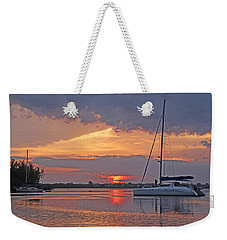 Weekender Tote Bag featuring the photograph Greet The Day by HH Photography of Florida