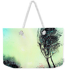 Weekender Tote Bag featuring the painting Greeting 1 by Anil Nene