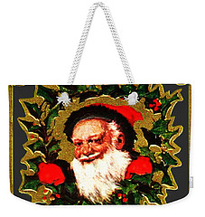 Weekender Tote Bag featuring the digital art Greetings From Santa by Asok Mukhopadhyay
