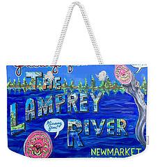 Greetings From The Lamprey River Weekender Tote Bag