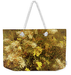 Grevillea And Prickly Cotton Heads Weekender Tote Bag by Cassandra Buckley