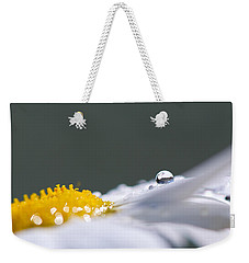 Grey And Yellow Daisy Weekender Tote Bag