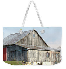 Weekender Tote Bag featuring the photograph Rustic Barn by Melinda Blackman