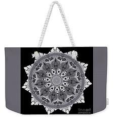 Grey Bubbley Eyes Mandala Weekender Tote Bag