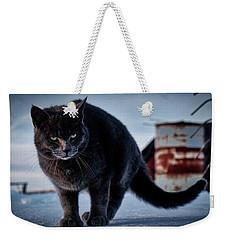 Grey Cat, Grey Mood Weekender Tote Bag