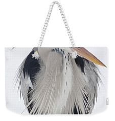 Grey Heron In The Snow Weekender Tote Bag