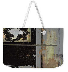 Grey Stacked  Weekender Tote Bag
