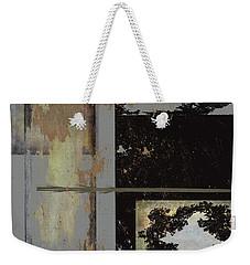 Grey Stacked Two Weekender Tote Bag