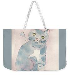 Grey Tabby Weekender Tote Bag by Terry Taylor