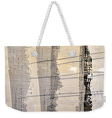 Grey White Black Weekender Tote Bag