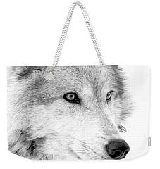 Grey Wolf Profile Weekender Tote Bag