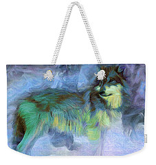 Grey Wolves In Snow Weekender Tote Bag by Caito Junqueira