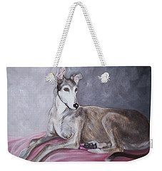 Greyhound At Rest Weekender Tote Bag by George Pedro