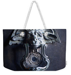Weekender Tote Bag featuring the photograph Griffin Door Knocker by Suzanne Powers