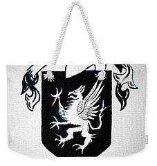 Weekender Tote Bag featuring the painting Griffin Family Crest by Stacy C Bottoms