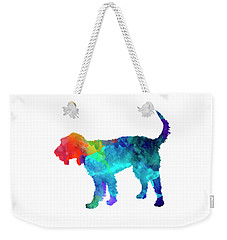 Griffon Nivernais In Watercolor Weekender Tote Bag by Pablo Romero