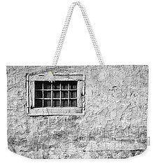 Weekender Tote Bag featuring the photograph Grille In A Wall - Slovenia by Stuart Litoff