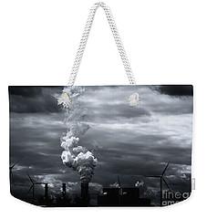 Grim Black White Energy Landscape Weekender Tote Bag