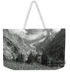 Grindelwald Glacier In Switzerland In Black And White Weekender Tote Bag